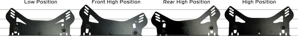N SPORT レカロRMS専用サイドステー ハイポジションタイプ ディテール