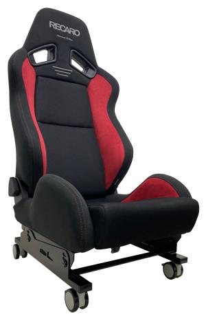 N SPORT ゲーミング/ディスプレイ シートスタンド キャスター付き リクライニングシート装着例