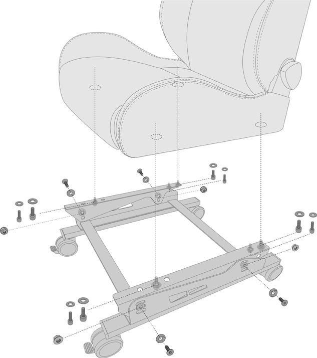 N SPORT ゲーミング/ディスプレイ シートスタンド キャスター付き 仕様・取り付けサイズ