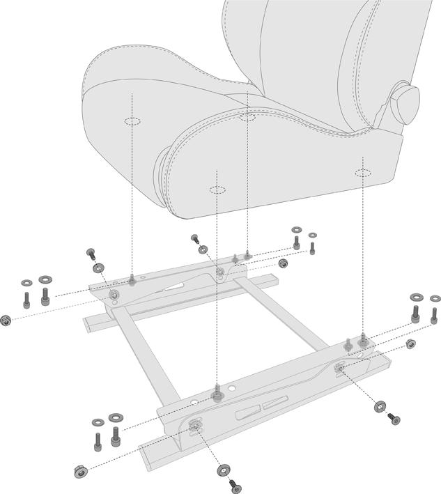 N SPORT ゲーミング/ディスプレイ シートスタンド 仕様・取り付けサイズ